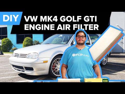 Mk4 Volkswagen Golf GTI Engine Air Filter Replacement DIY (1998-2006 VW Beetle, Jetta, Golf)