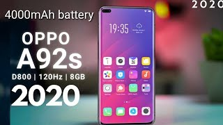 Oppo A92s Mid range 5G With Dimensity 800 Official specifications, Price & release date