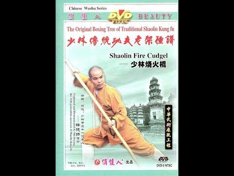 Shaolin kung fu firing staff