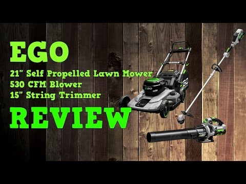 "Ego 56V 21"" Self Propelled Mower & 530 CFM Blower & 15"" String Trimmer Review"
