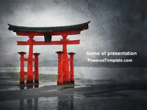 Ancient japan powerpoint template by poweredtemplate youtube toneelgroepblik Image collections