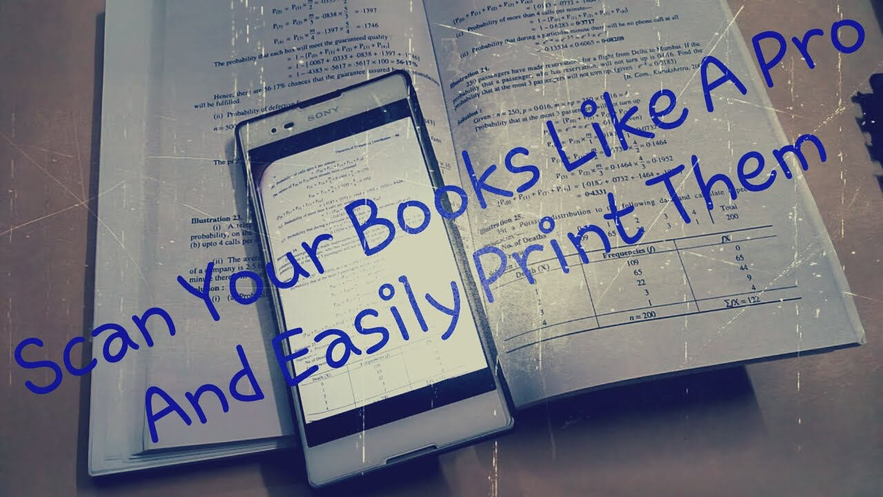 quickly scan a textbook with a camera and make a pdf file youtube