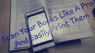 Quickly Scan a Textbook With a Camera And Make A PDF file