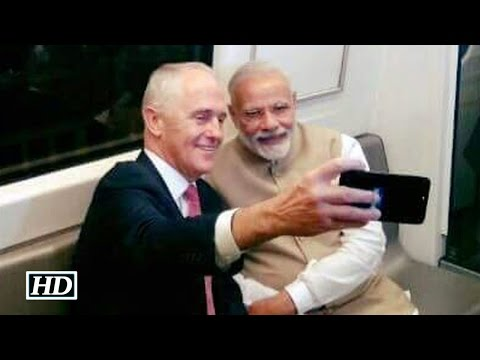 Modi, Australian PM travel by Delhi Metro