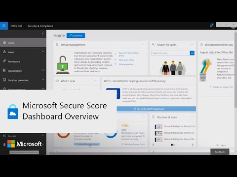 Microsoft Secure Score Dashboard Overview