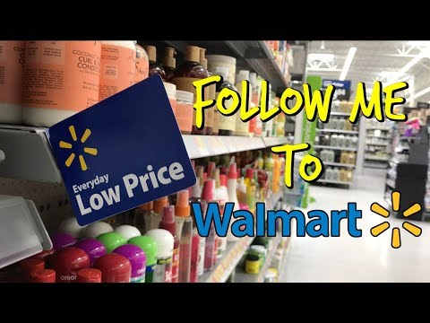 Walmart: Follow Me To Look At Hair Products!