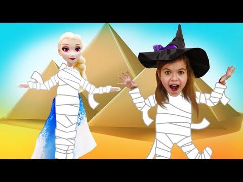 Игры для девочек - Спасаем Эльзу из Холодного Сердца! Ведьмочка Юлли в пустыне