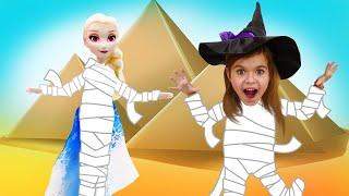Фото Игры для девочек   Спасаем Эльзу из Холодного Сердца Ведьмочка Юлли в пустыне – Видео для детей.