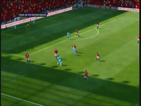 Mario Balotelli Goal - Man Utd Vs Man City - Sunday 23rd October 2011