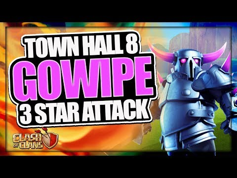 TH 8 GOWIPE 3 STAR ATTACK STRATEGY | MAX TH 8 TROPHY PUSHING ARMY | CLASH OF CLANS