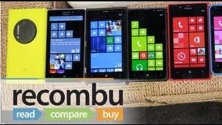 Nokia Lumia 1020 vs Lumia 925, 920, 820, 720, 620 and 520