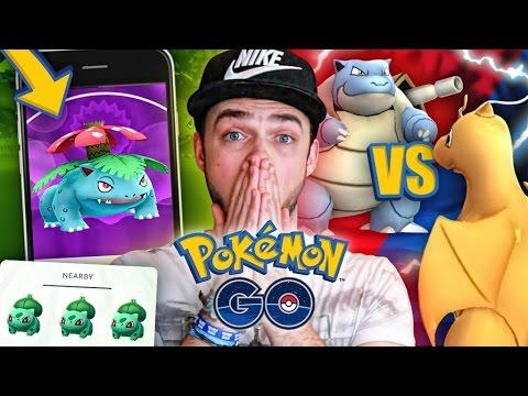 Pokemon GO - FIRST 1vs1 GYM BATTLE + EPIC POKEMON SPAWN!