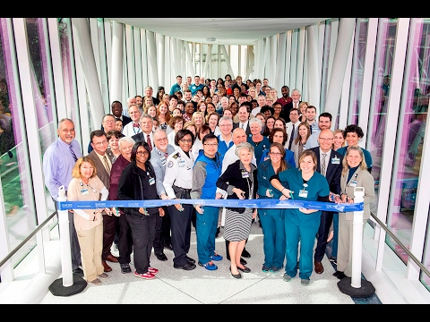Emory's New Hospital Tower Bridge Opens