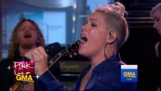 P!NK - Interview + What About Us + Beautiful Trauma - Good Morning America 2017