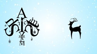 Animated Christmas Card Template - Reindeer Star