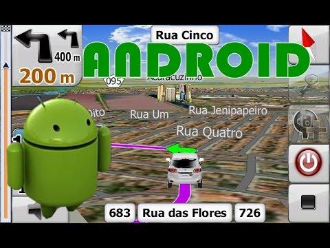 Android Imagens de Satélite e Simulação de Rota GPS no iGO Primo