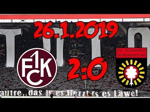 1. FC Kaiserslautern 2:0 SG Sonnenhof Großaspach – 26.1.2019 – Super Jahresauftakt!