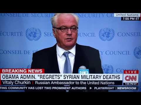Russian Ambassador to the United Nations Vitaly Churkin cut of by CNN