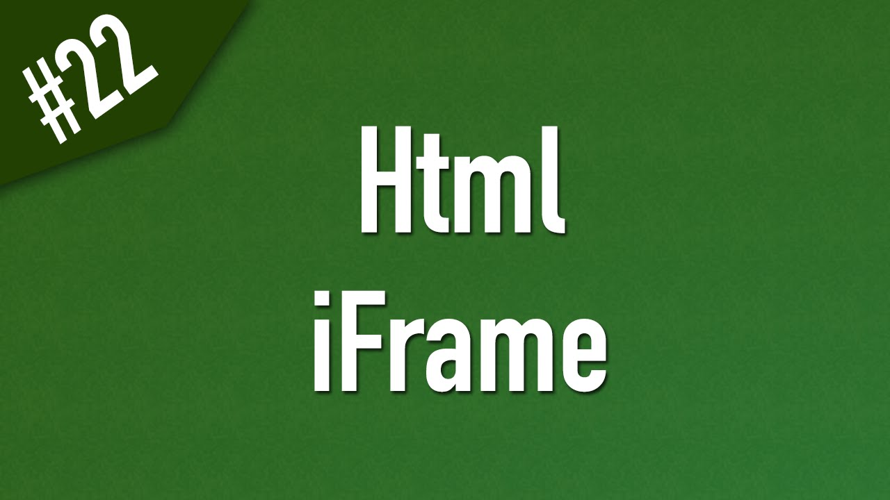 how to add iframe video in html