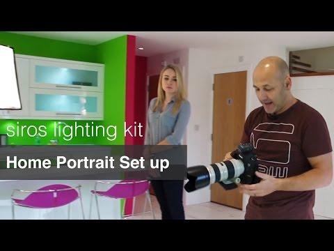 Home Portrait Setups - Broncolor Siros Lighting Kit Review.