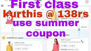Ajio offers how to buy first class kurthis at rs 138 screenshot 2