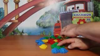 Мозаика пазлы коврик 40 деталей. Обзор игрушек.