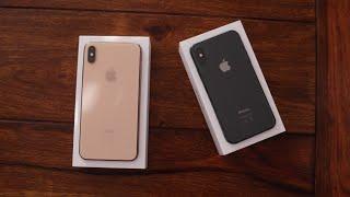 Apple iPhone Xs (Max) Unboxing (Deutsch) und Größenvergleich