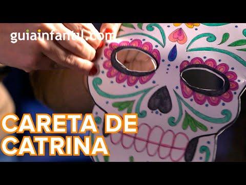 Cómo Hacer Una Máscara De Catrina Para Halloween Youtube