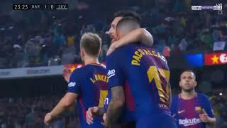 ملخص مباراة برشلونة واشبيلية 2 1   عصام الشوالي  الدوري الاسباني HD 2017