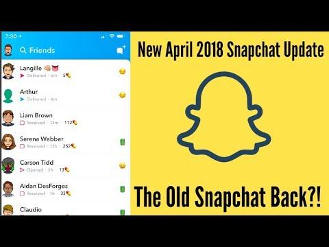 April 2018 Snapchat New Update, Old Snapchat Back?!