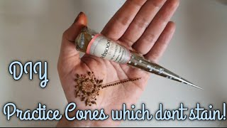 How to make Practice Henna cones  Henna paste with no essential oils  No stain