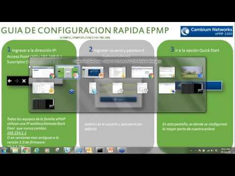 Configurando un enlace con radios EPMP1000