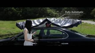 Car Umbrella Solar-powered Automatic Car Sun Shade Visor UV Protector Windshield: Carbella 2.0