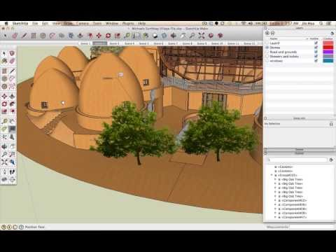 Sketchup Plant and Tree Placement, Resizing, Rotating, and Labeling Tutorial
