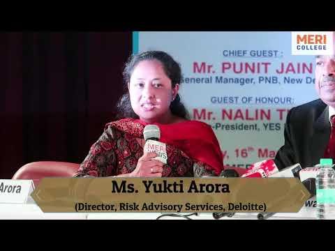 Corporate Byte|Yukti Arora (Director)|Deloitte|Finance Seminar 2019|MERI MIC|MERI