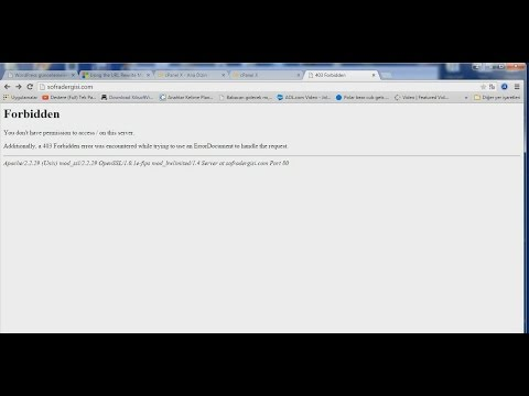 You don't have permission to access /wp-admin on this server.wordpress
