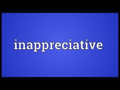 Header of inappreciative
