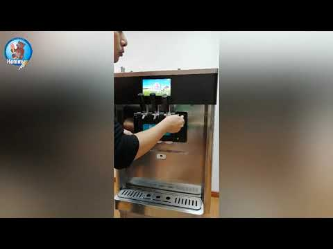 HM706 how to clear for table top ice cream machine & frozen Yogurt machine