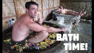 FIGHTER BOYS TAKE A UNIQUE BATH IN THE PHILIPPINES... (BecomingFilipino, Farm Tourism)