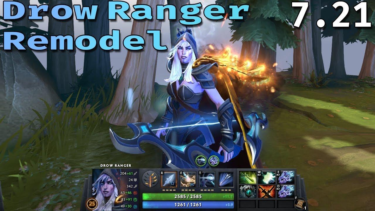 Drow Ranger Remodel Dota 2 Update Dota 7 21 Youtube
