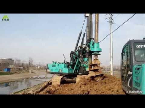TYSIM Hydraulic Piling Rig KR80K with Kobelco SK140LC