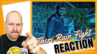 Theri Rain Fight Scene REACTION by American