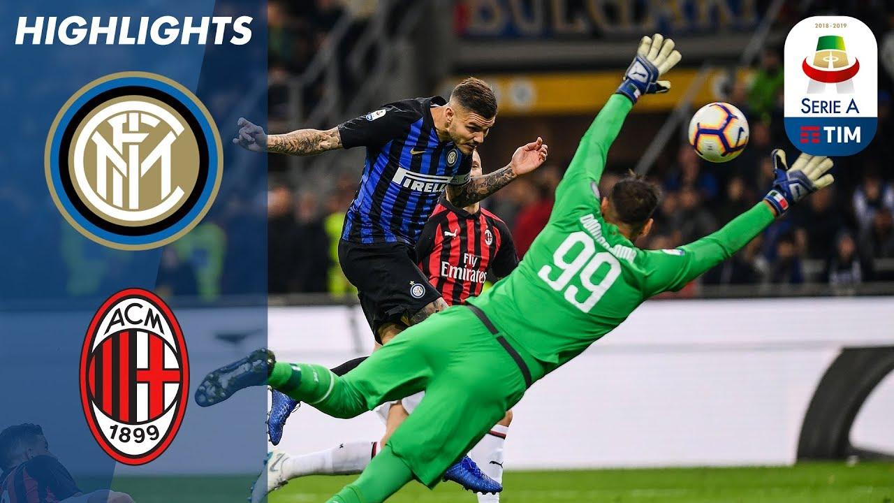 Inter Milan 1 0 Ac Milan Late Icardi Header Wins Dramatic Milan Derby Serie A Youtube