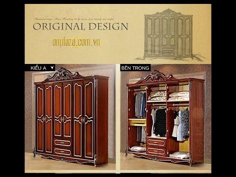 ♔Tủ quần áo gỗ đẹp tại Hà Nội PN26♔Mua tủ gỗ giá rẻ TPHCM