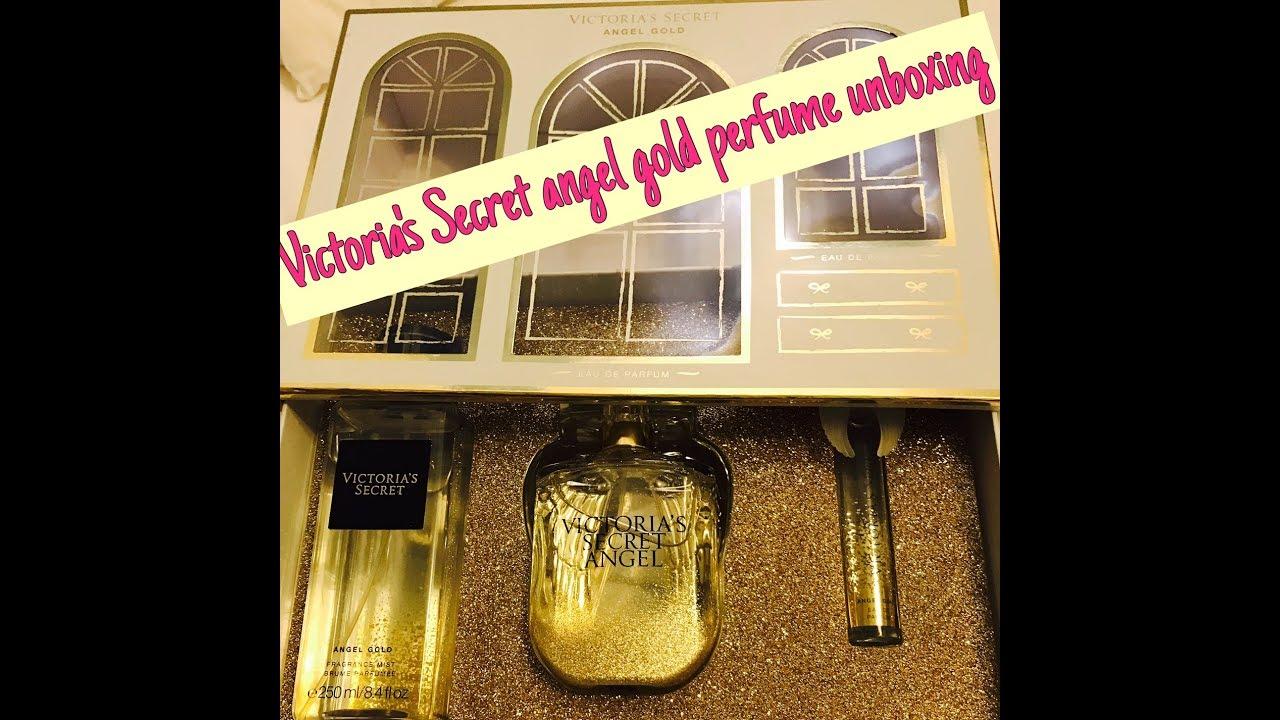 Victorias Secret Angel Gold Perfume Gift Set Unboxing Youtube