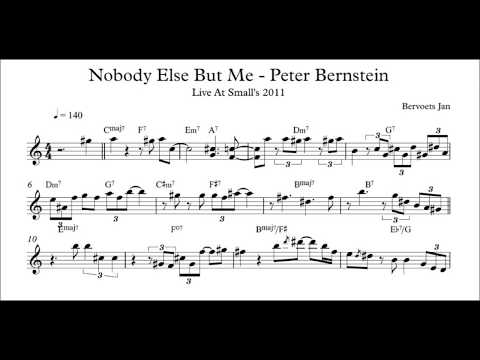 Nobody Else But Me - Peter Bernstein