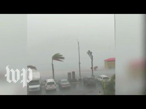 Hurricane Dorian barrels into U.S. Virgin Islands with strong winds, heavy rain