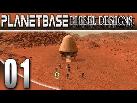 PlanetBase Gameplay: Ep1: City Building on MARS! (Space Survival Strategy 1080p)