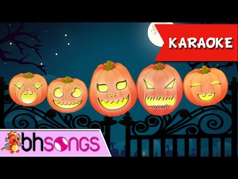 Five Little Pumpkins | Nursery Rhymes | Top Kids Songs [ Karaoke Music 4K ]