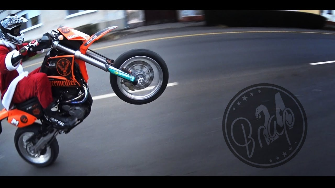 santa claus is coming | supermoto lifestyle | ktm lc4 640 - youtube
